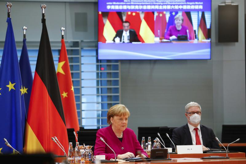 Germany's Angela Merkel pressures China for human rights discussions