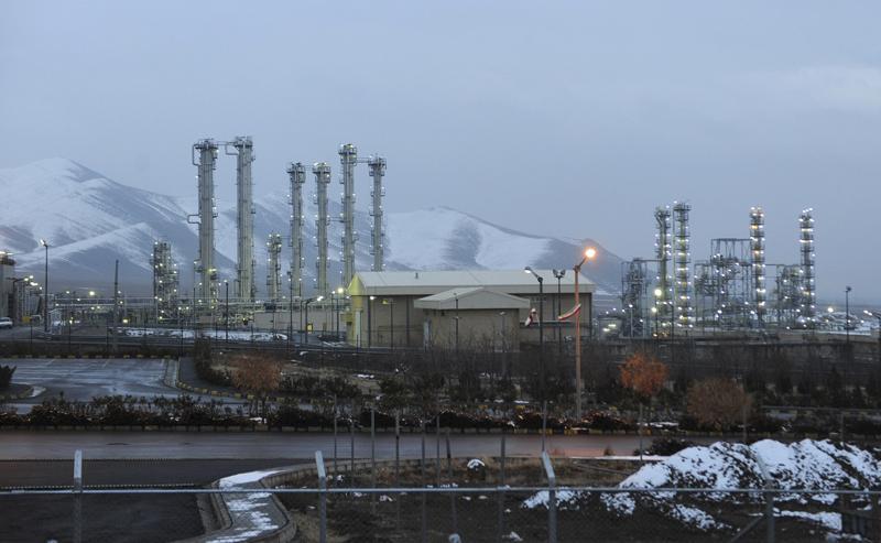 FILE - This Jan. 15, 2011 file photo shows Arak heavy water nuclear facilities, near the central city of Arak, 150 miles (250 kilometers) southwest of the capital Tehran, Iran. (AP Photo/ISNA, Hamid Foroutan, File)