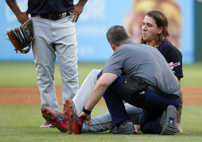 Indians' Mike Clevinger on injured list with ankle sprain