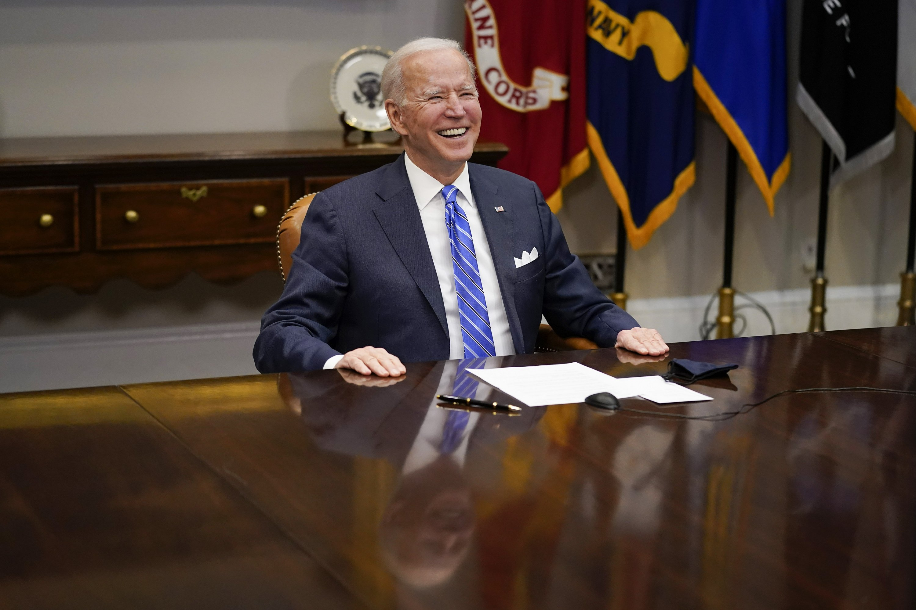 Biden lauds NASA team for giving US 'dose of confidence' - The Associated Press