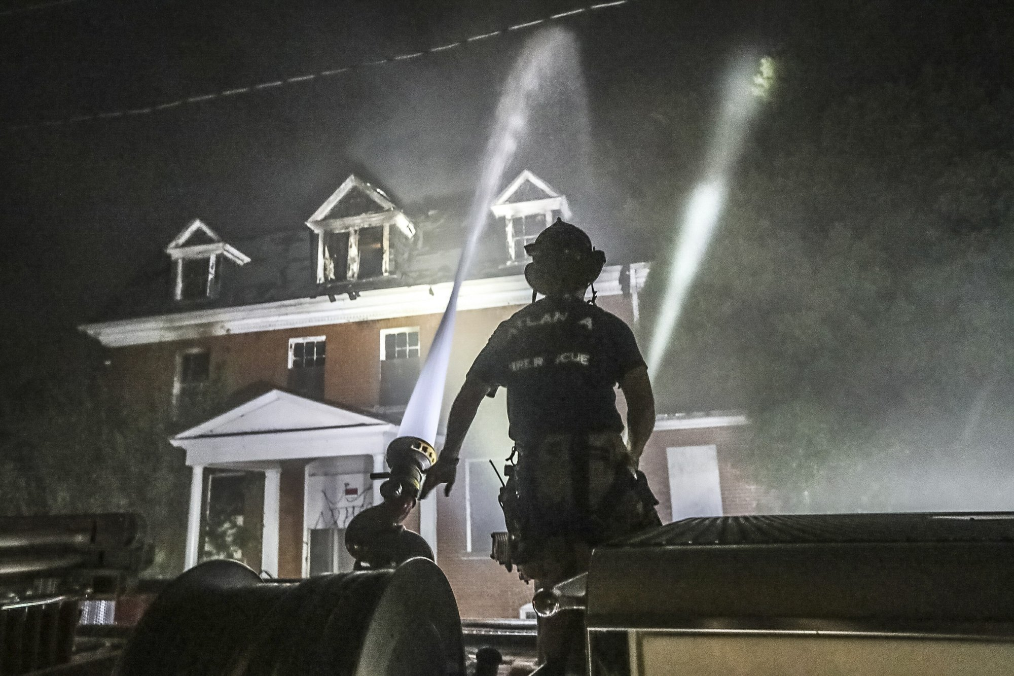 Historic dormitory burns, once belonged to troubled college