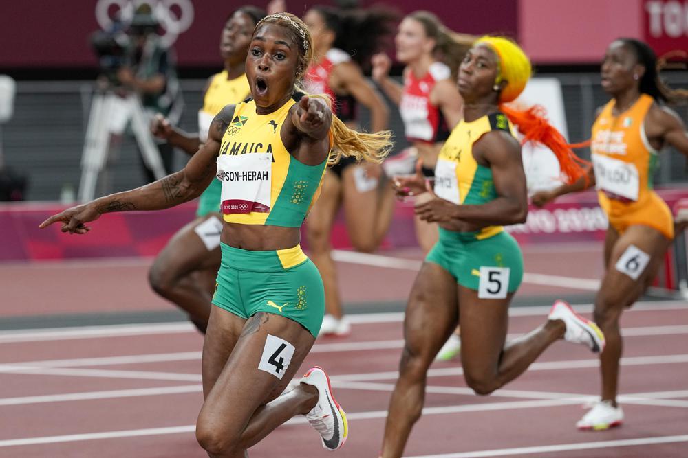 Elaine Thompson-Herah Breaks Flo-Jo's 33-Year-Old Olympic Record as Jamaica Sweeps Women's 100m