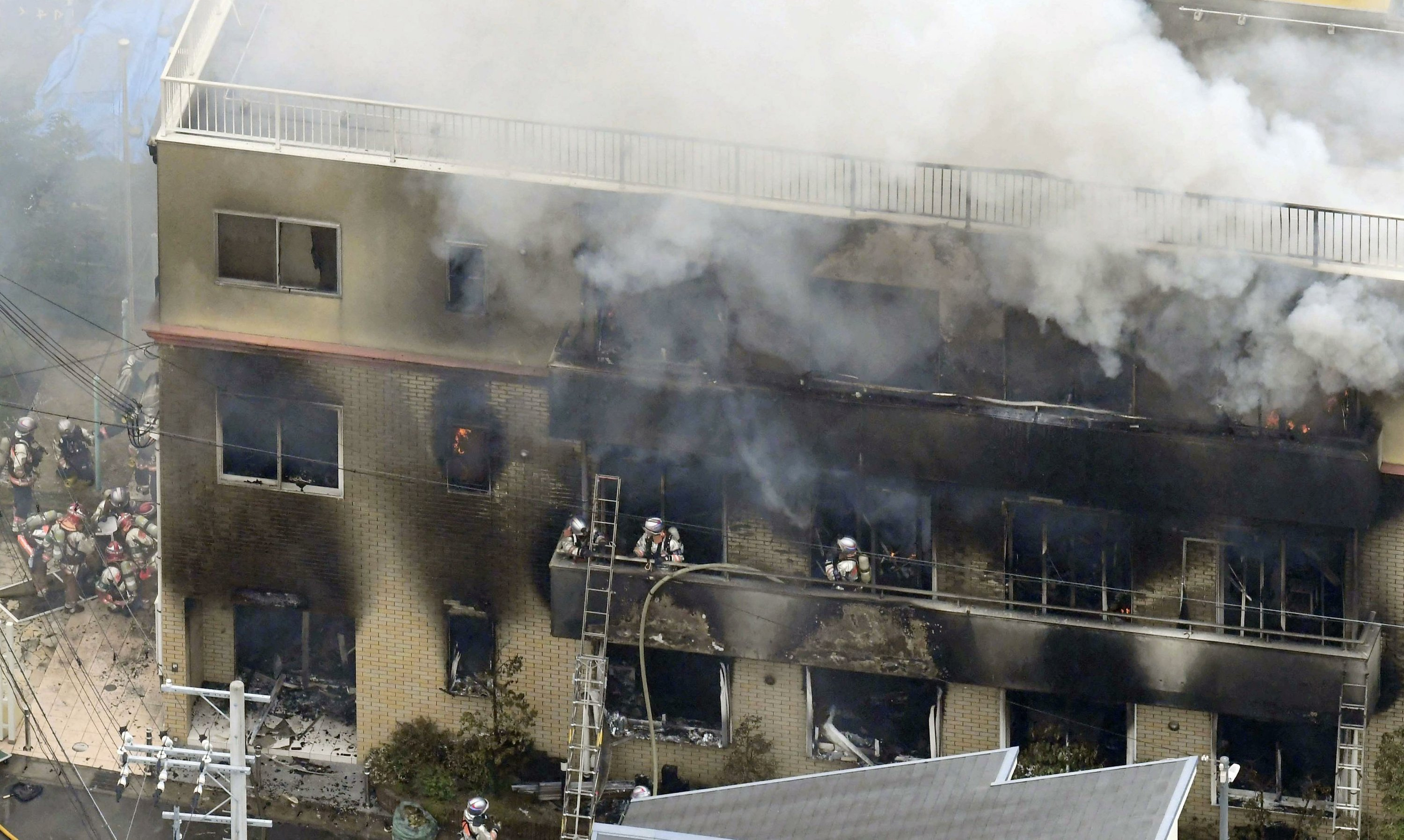 Image result for 33 killed in fire at Japanese anime studio after man screaming 'you die!' set building alight