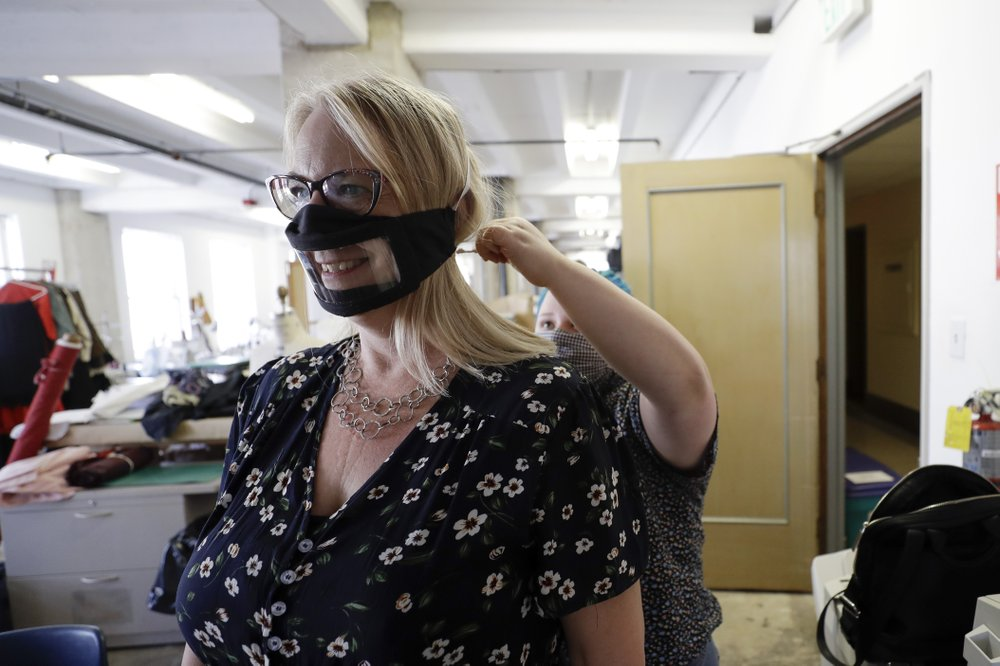 The solution to the deaf and hearing impaired – face masks with plastic windows for hearing people to wear, allowing lip readers to see mouths move