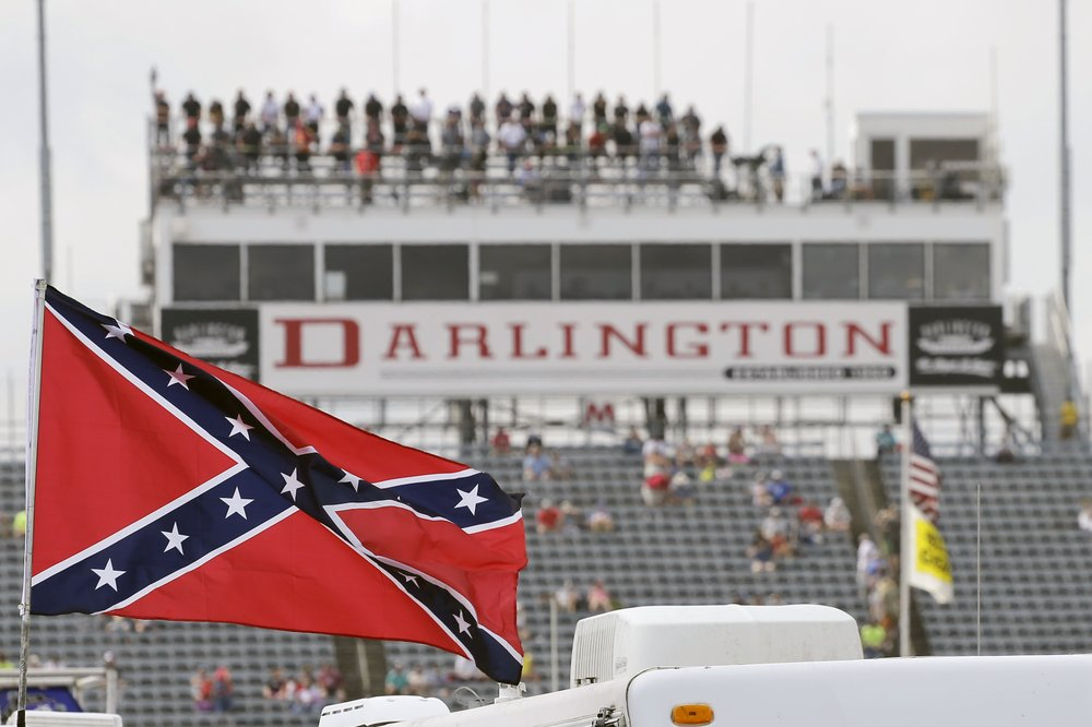 The Confederate flag once a familiar sight at NASCAR races will no longer fly there