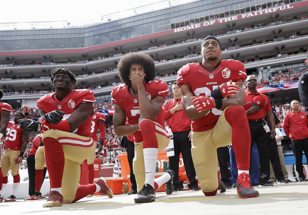 When politicians, team owners, and fellow players criticized Colin Kaepernick for taking a stand against police brutality and racial injustice  by taking a knee bow, he stood alone; now others are standing with him, but there is still much road to cover