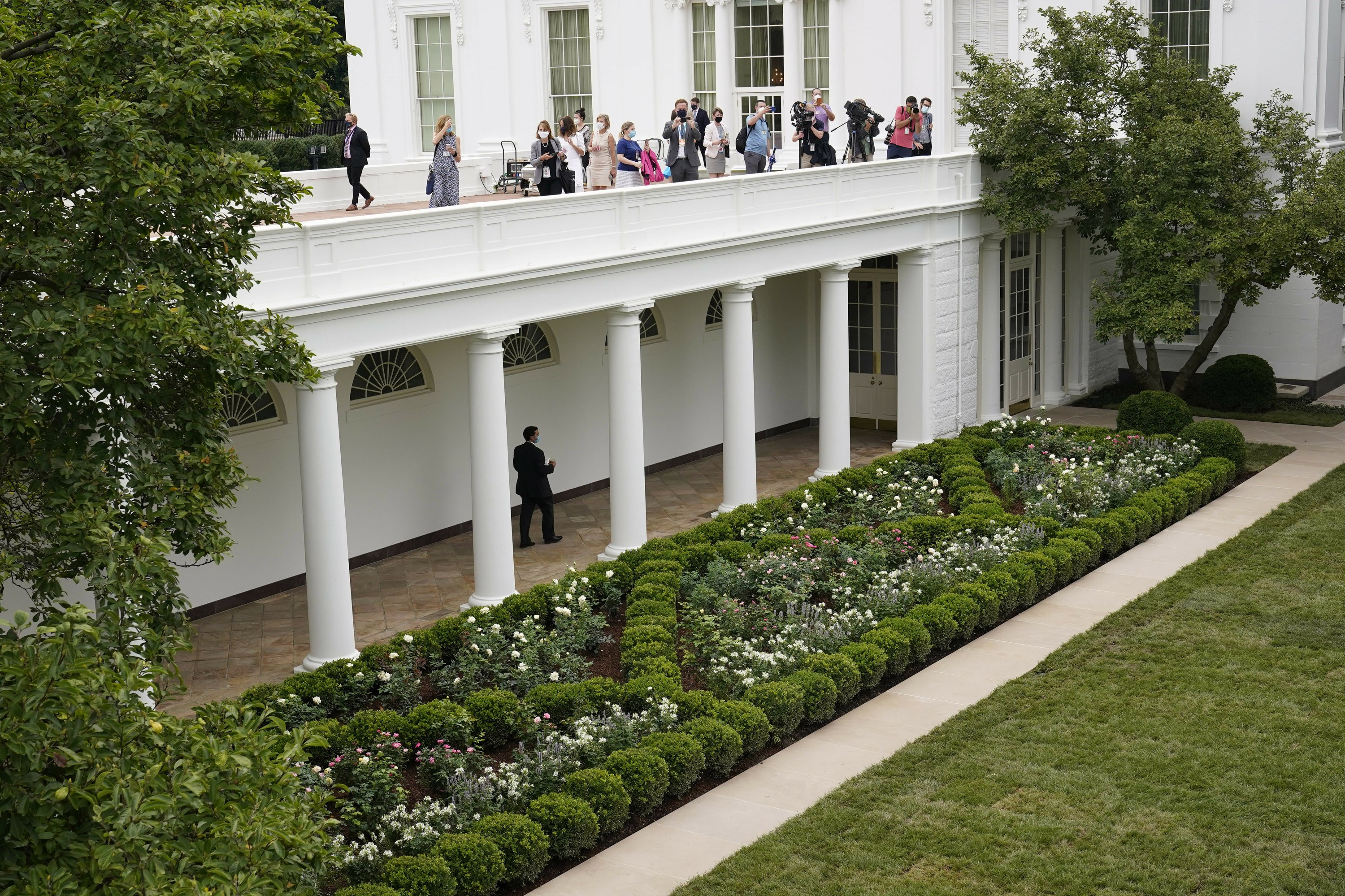 Spruced Up White House Rose Garden Set For First Lady Speech
