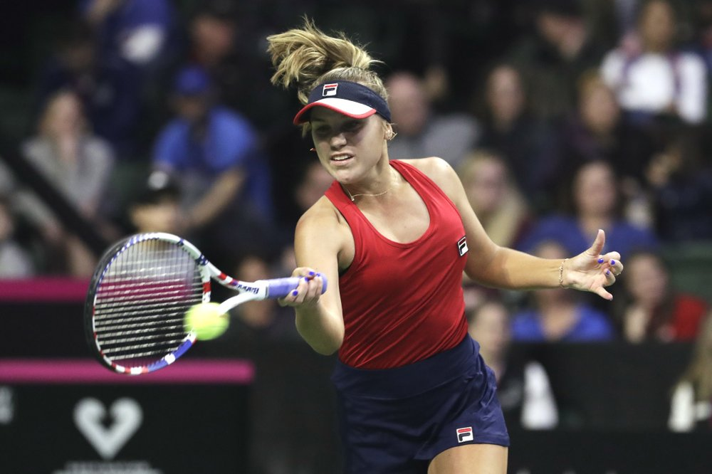 Kenin gives US early lead over Latvia in Fed Cup