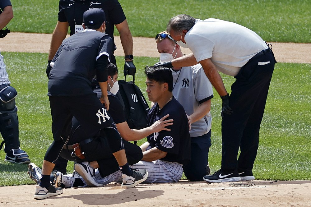 Not going well for the Yankees: Masahiro Tanaka hit in head; DJ LeMahieu and Luis Cessa tested positive for virus