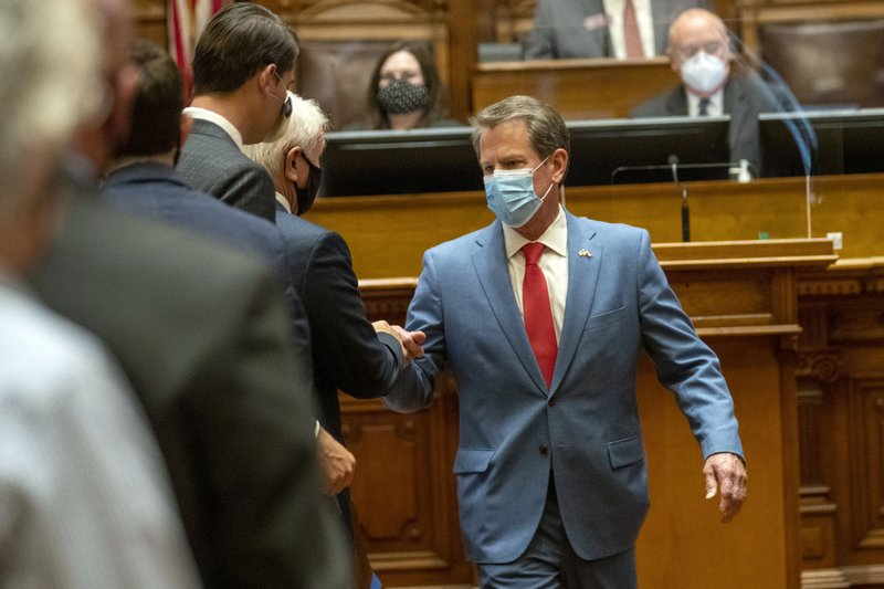 Georgia Gov. Brian Kemp still undecided on the necessity of face masks amid virus spike