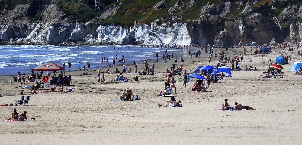 Gov. Gavin Newsom will order all beaches and state parks closed Friday after tens of thousands flocked to the seashore last weekend during a heat wave despite his stay-at-home order