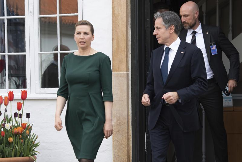 Dogged by Mideast, Blinken aims to revive US-Denmark ties