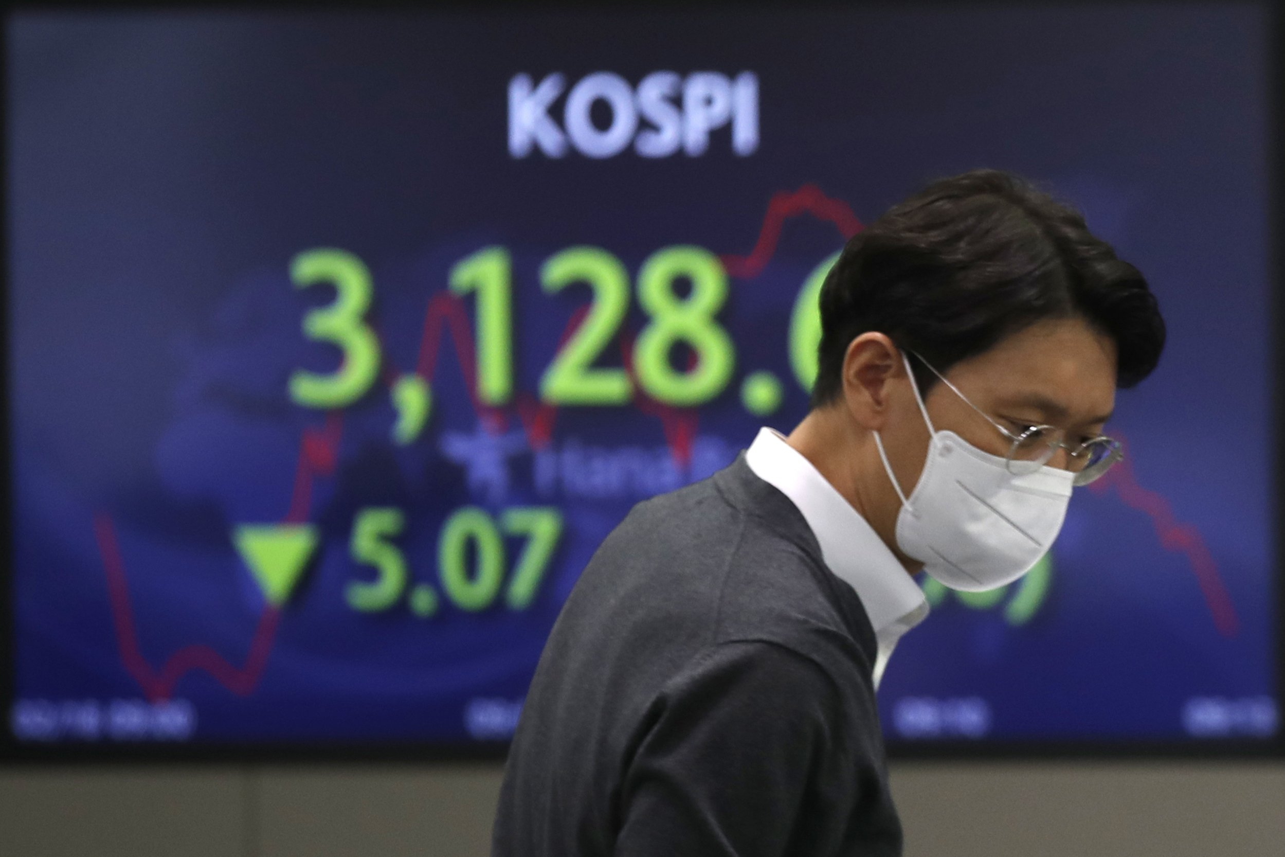 Asian shares mostly lower after mixed day on Wall Street