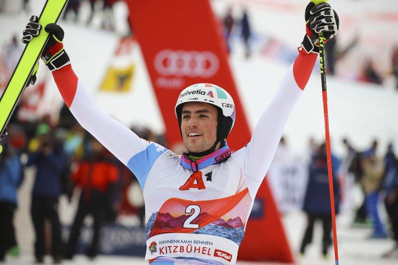 Swiss Skier Yule Takes Kitzbuehel Slalom For 3rd Win In 2020