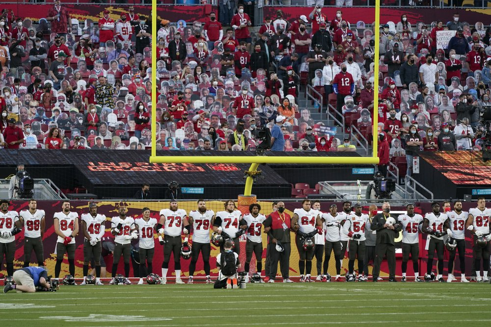 NFL update:  shows racial solidarity; Biden wants to use NFL stadiums for vaccines