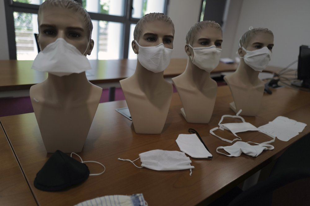 Mask-making French companies turn to government for assistance in promoting and finding buyers for the surplus of 20 million masks output of the industry's national effort in its fight against coronavirus pandemic plague