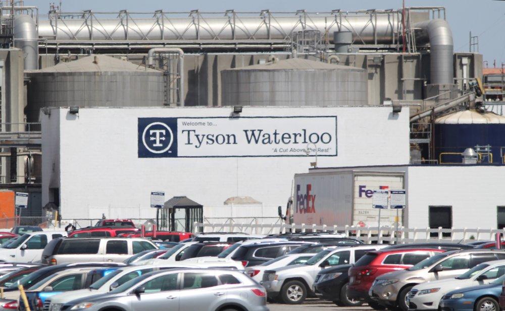 Planta de procesamiento de carne Tyson Waterloo ubicada en Iowa