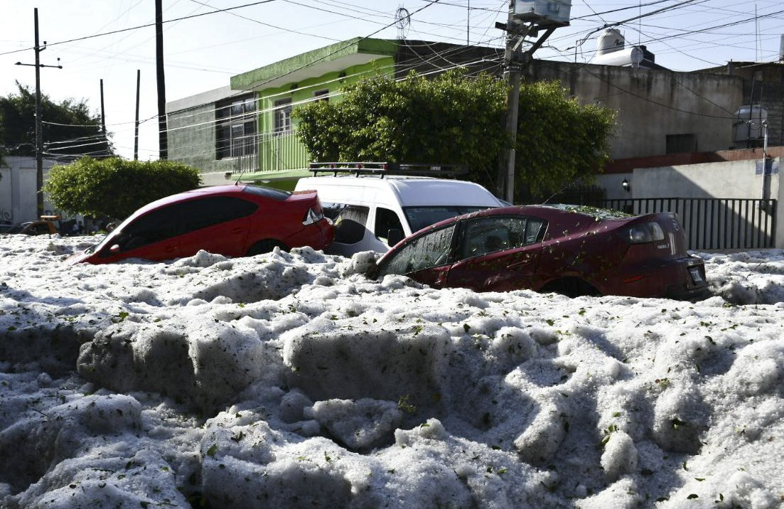 Guadalajara digs out from more than 4 feet of hail