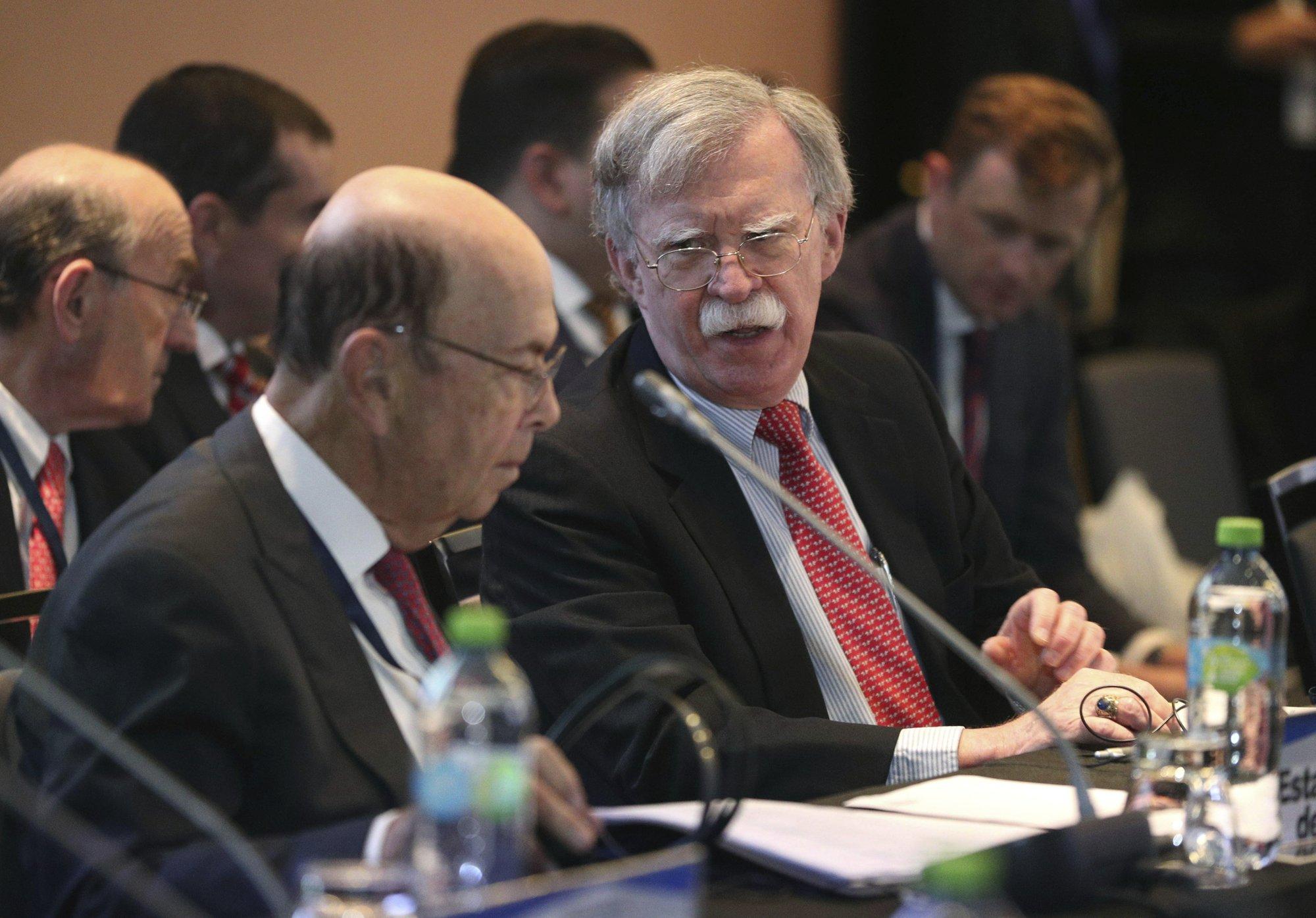 Bolton warns foreigners that violate Venezuela asset freeze