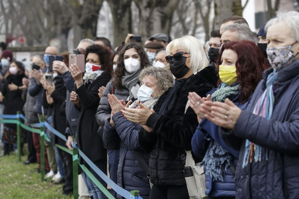 Italians mark one year of COVID-19 outbreak with sad hearts and non-precious memories