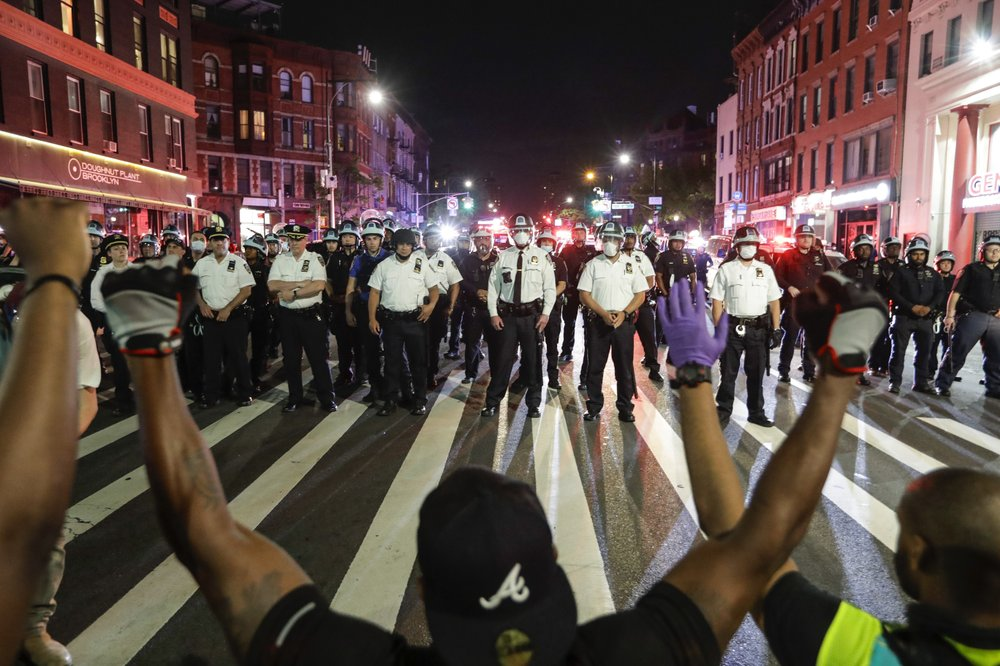 Some of it is on tape: Mayor Bill de Blasio denies rough police treatment of NYC protesters