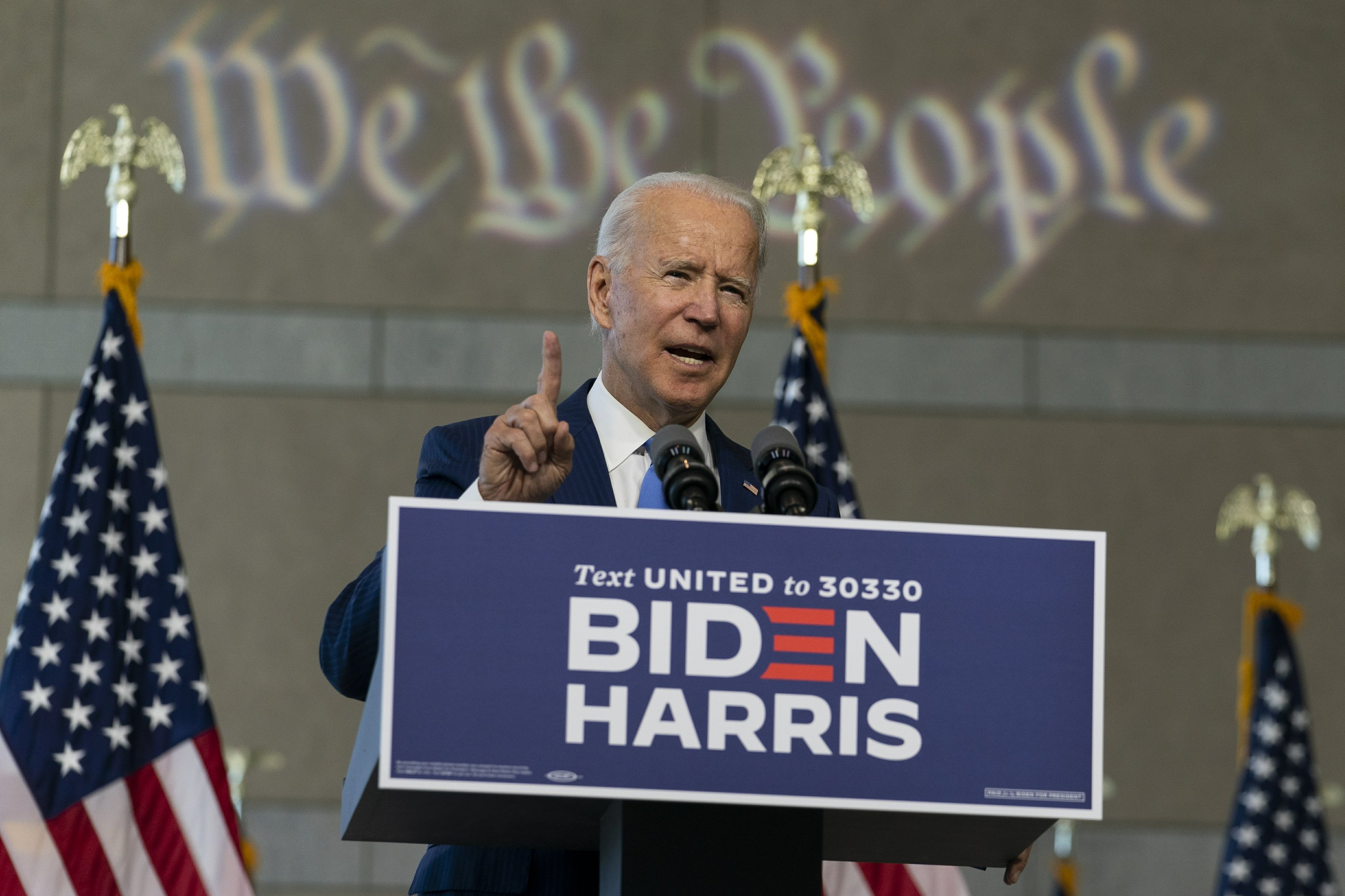 With cash windfall, Biden adds GOP states to campaign map