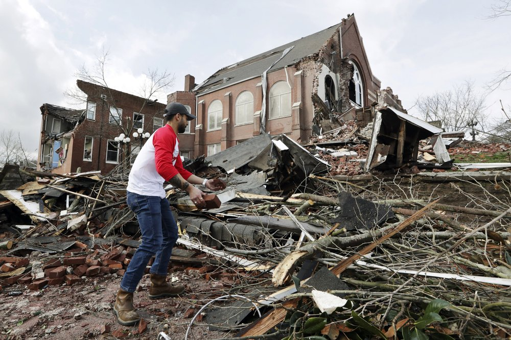 Tornadoes ripped across Nashville and other parts of Tennessee taking the life of at least 25