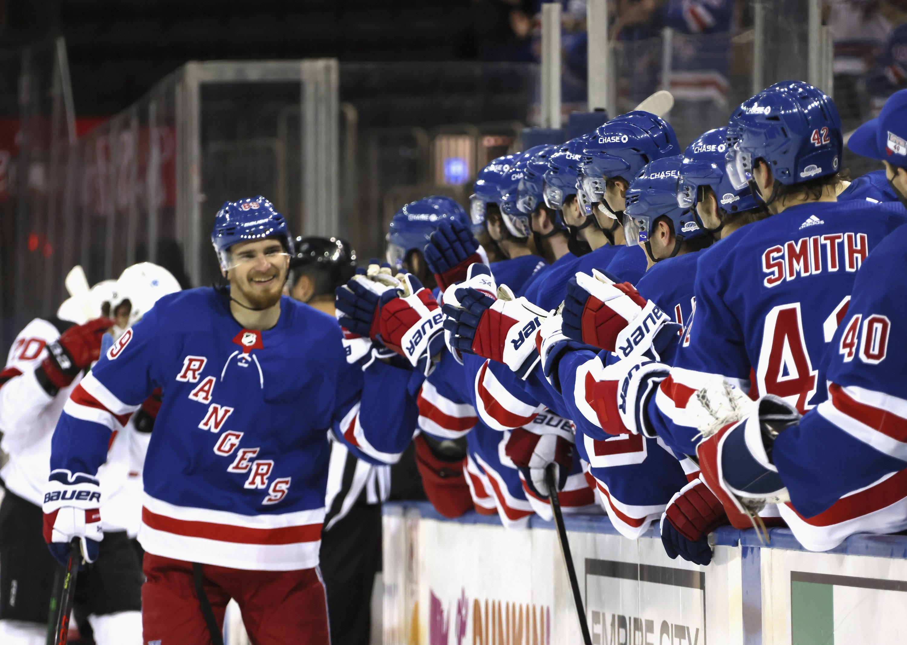 Buchnevich gets 3; Rangers beat NJ for 3rd time in 5 days