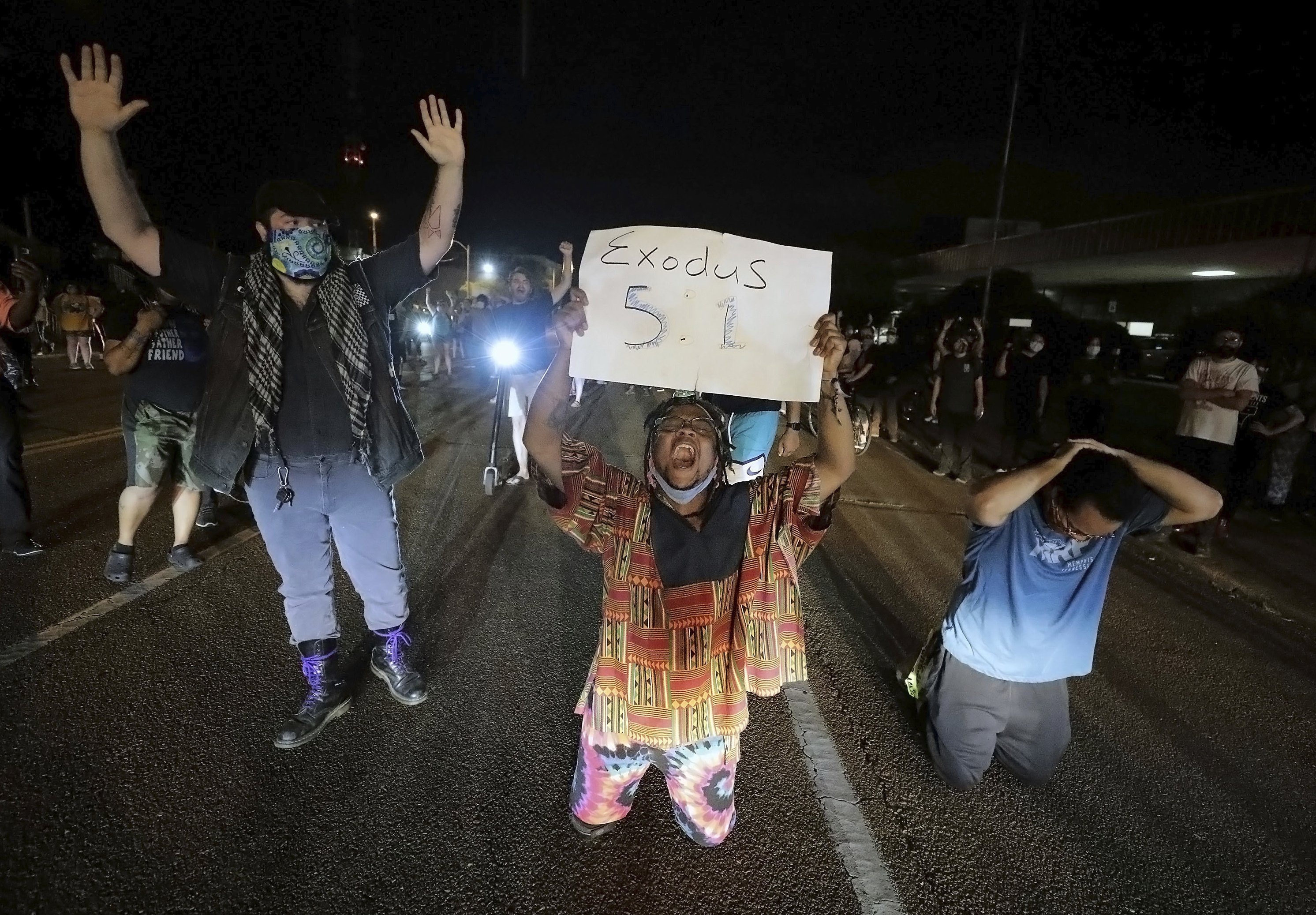 Memphis police to investigate incident at Floyd protest