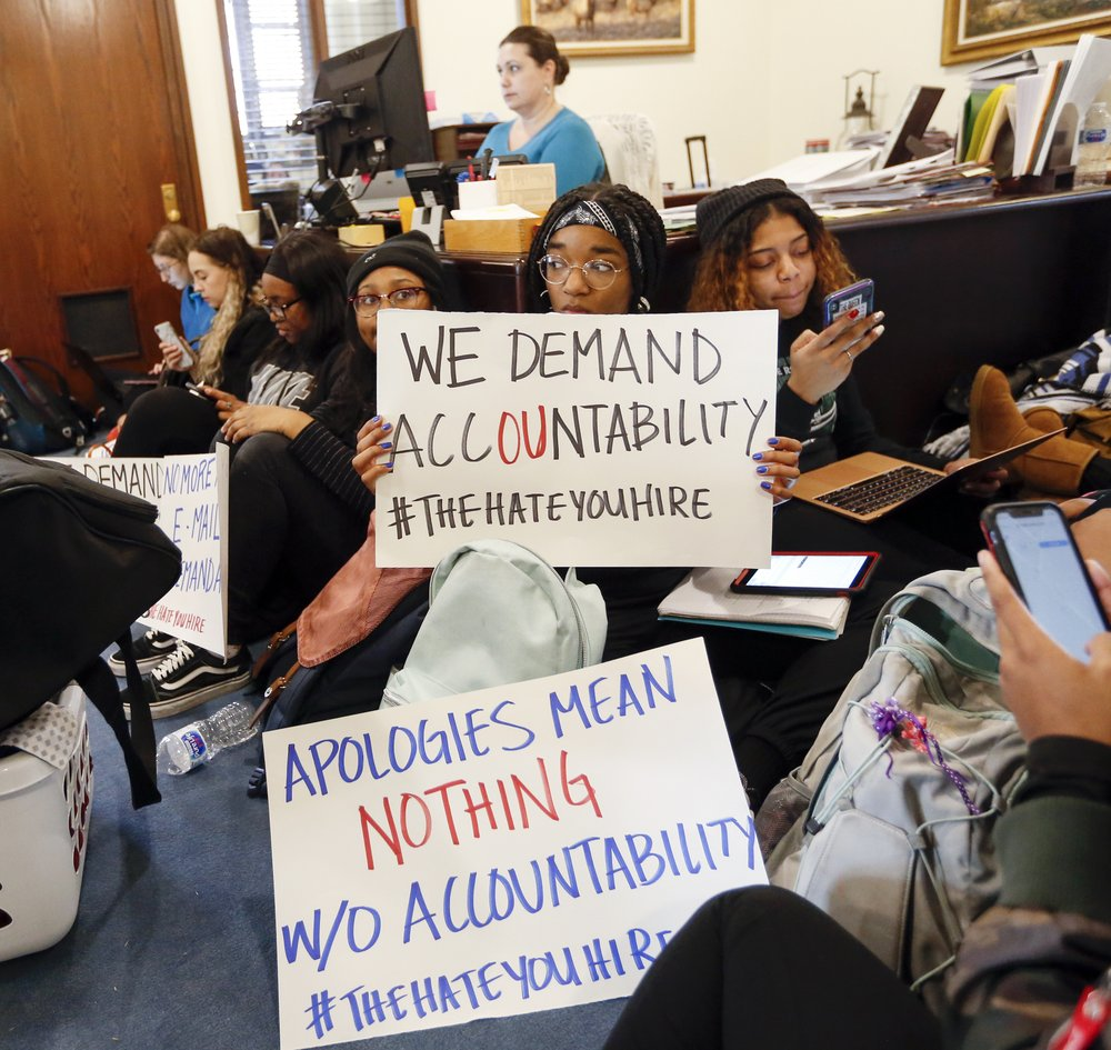Students Stage Sit-in Outside University of Oklahoma Offices After Professors Use Racial Slurs
