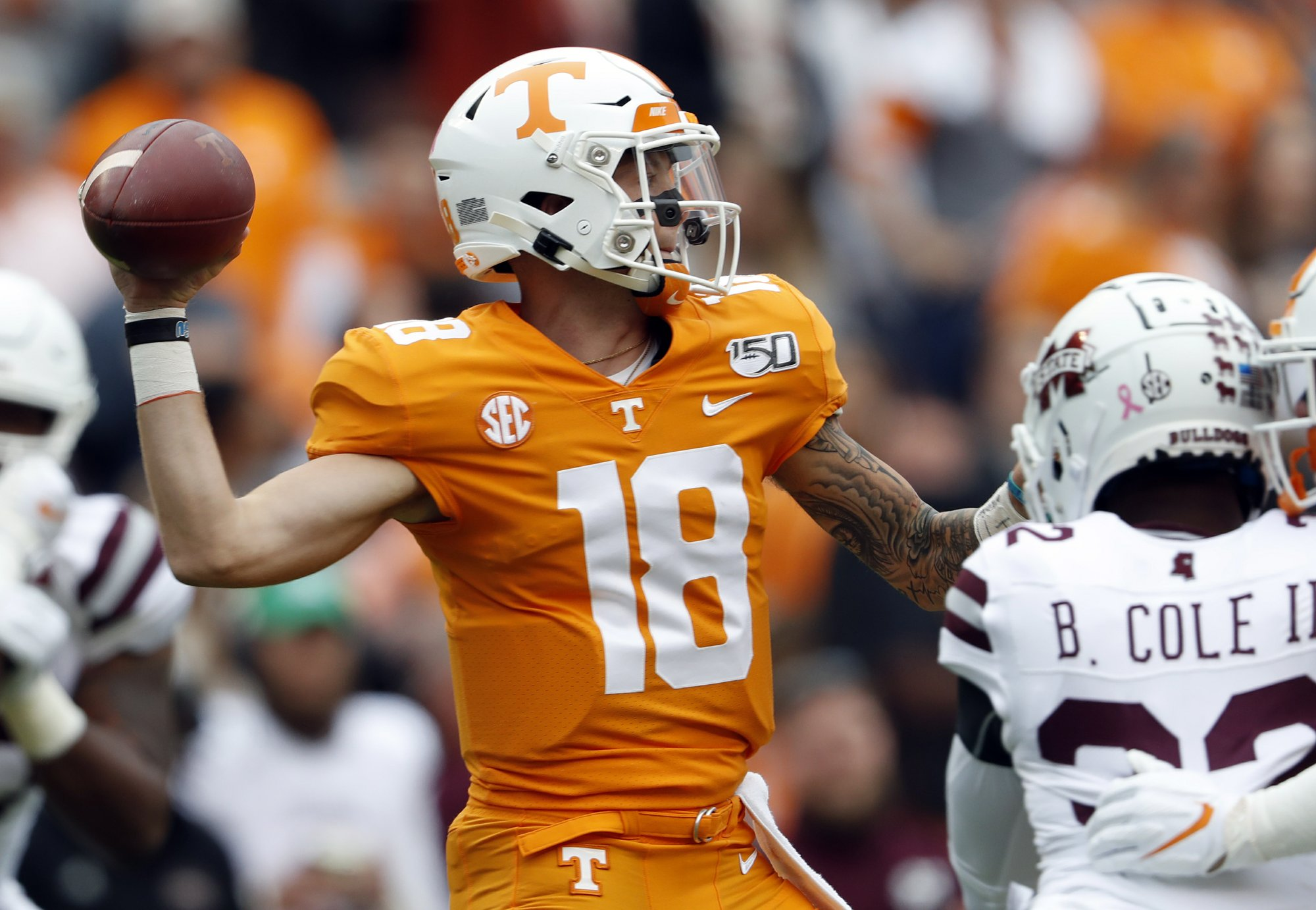 Vols confident QB Maurer will play against No. 1 Alabama