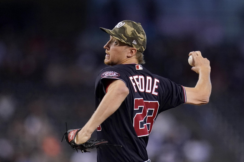 Fedde's arm, Hernandez's HR push Nationals past D-backs 3-0
