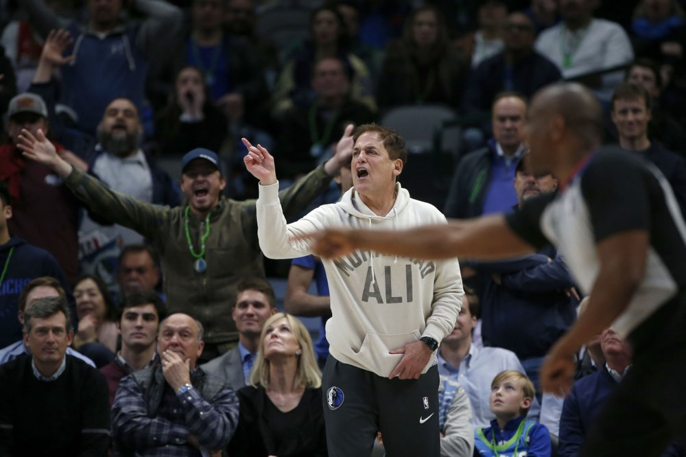 """13.NBA fines Dallas owner Mark Cuban $500,000 for """"public criticism and detrimental conduct"""" and sends teams memo on how to carry themselves during games"""