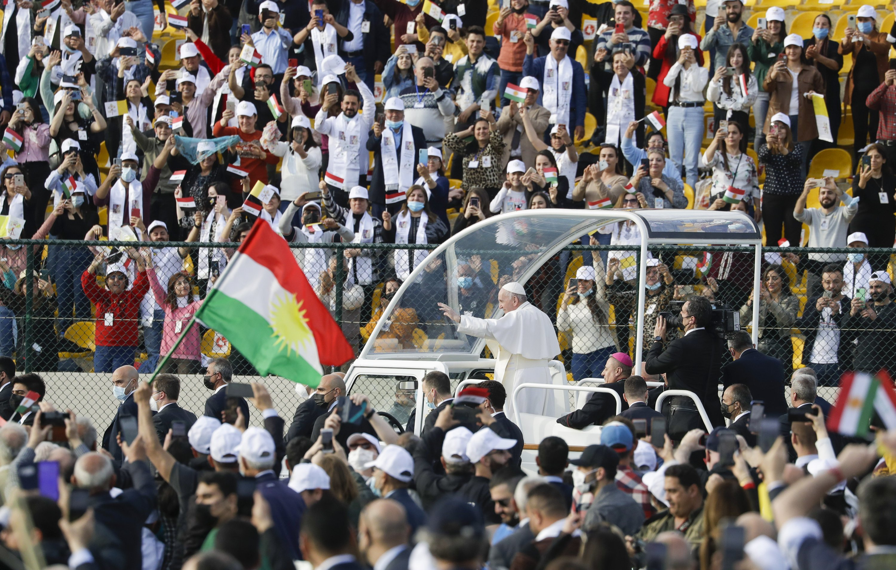 Where IS ruled, pope calls on Christians to forgive, rebuild - The Associated Press