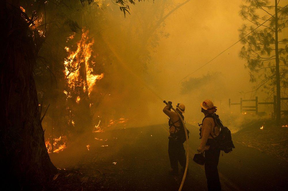 California, fire, wind