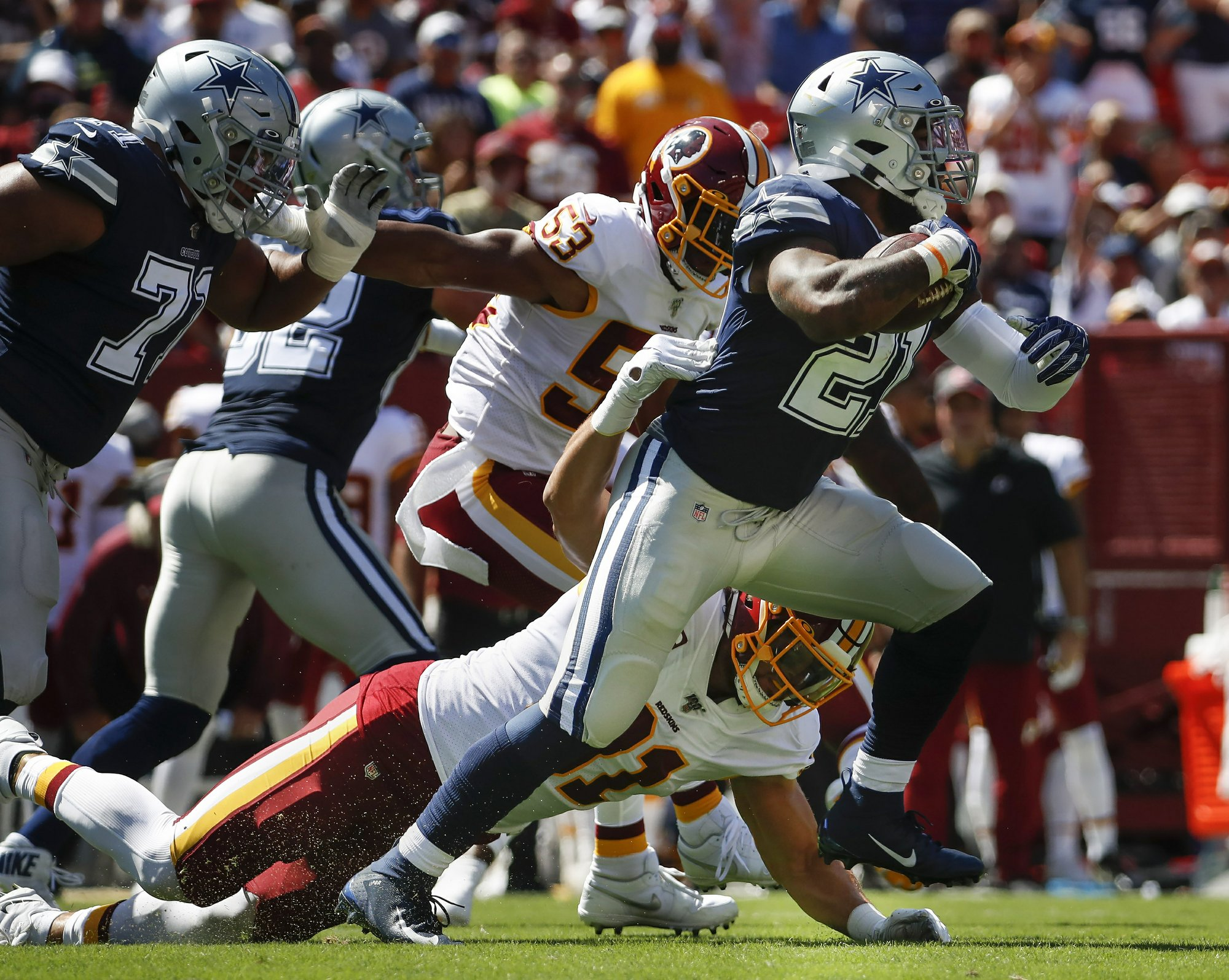 Redskins again undone by defense in loss to Cowboys