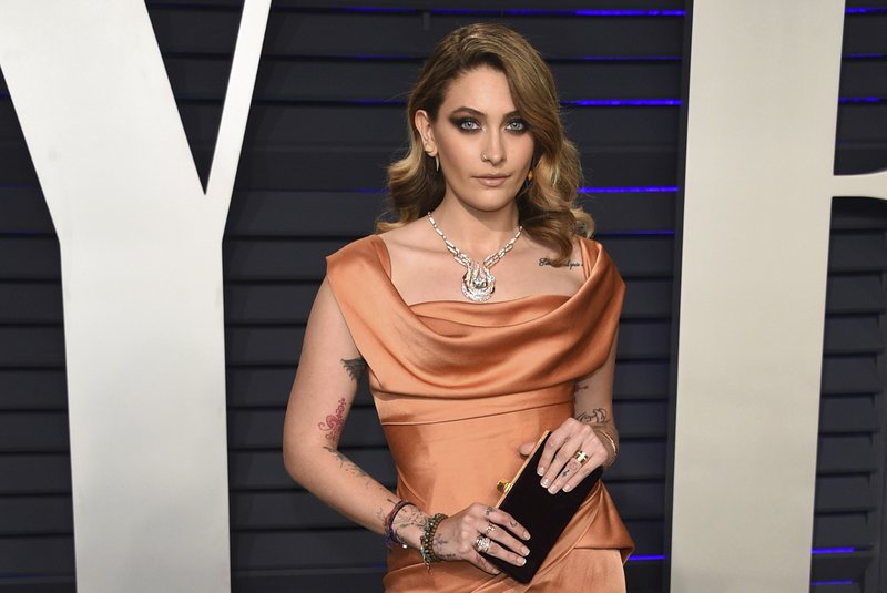 FILE - In this Feb. 24, 2019 file photo, Paris Jackson arrives at the Vanity Fair Oscar Party in Beverly Hills, Calif. (Photo by Evan Agostini/Invision/AP, File)