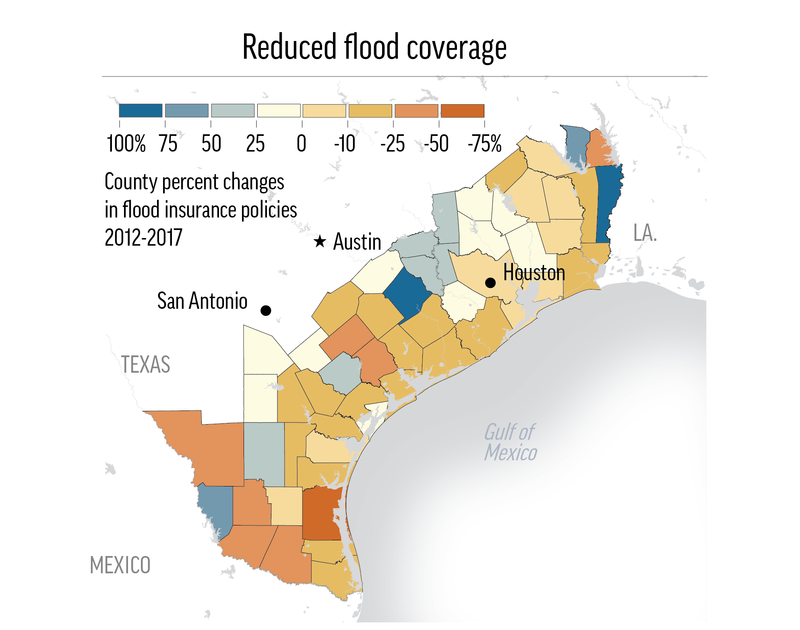 AP Exclusive Flood Insurance Policies Plunged Before Harvey - Fema flood maps texas