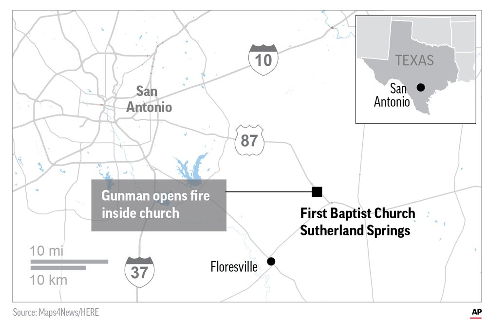 Correction: Church Shooting-Texas story
