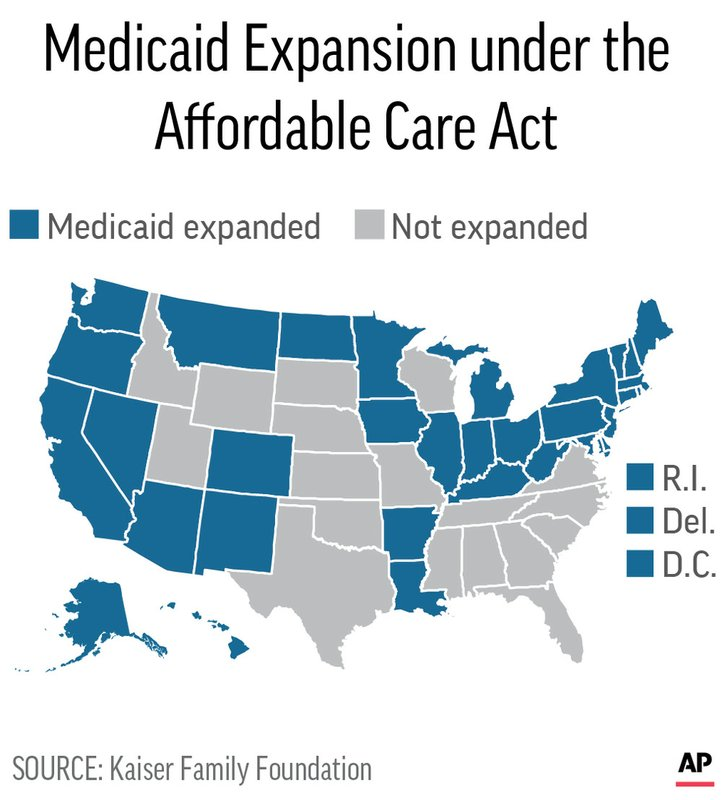 Trumps move may nudge holdout GOP states to expand Medicaid