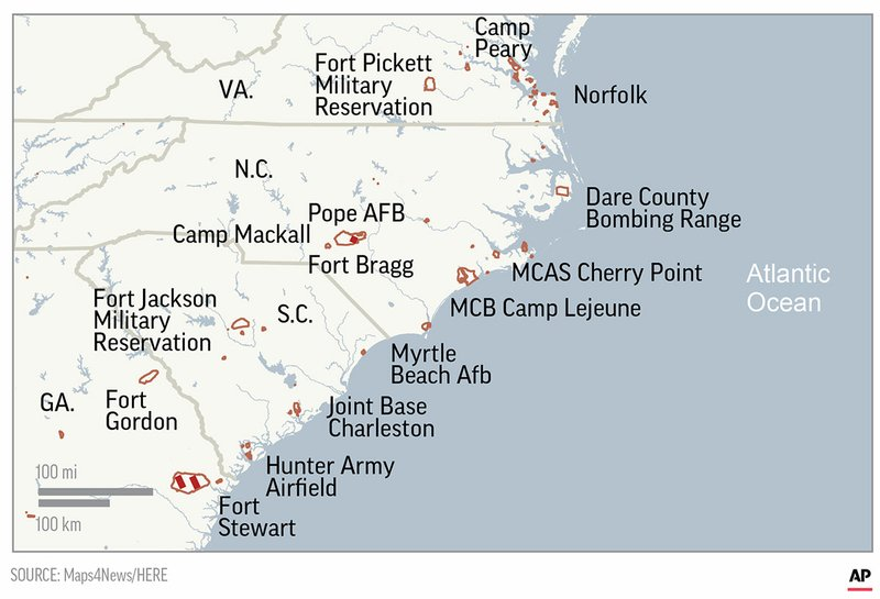 East Coast Military Bases Brace For Florence