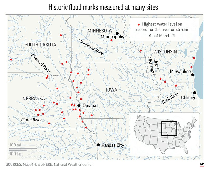 Correction Southern Flood Threat Story - Map-of-flooding-in-us