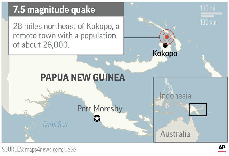 Map Of Australia New Zealand And Papua New Guinea.Powerful Quake Rattles Papua New Guinea No Injury Reports
