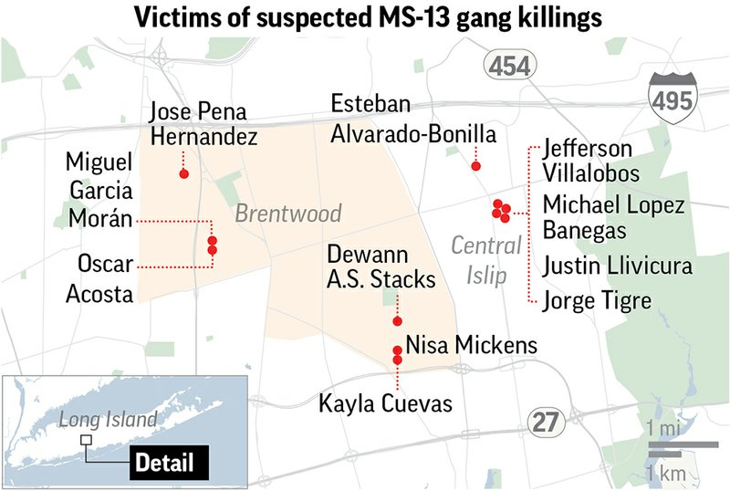 MS-13 street gang grips Long Island suburbs in violence