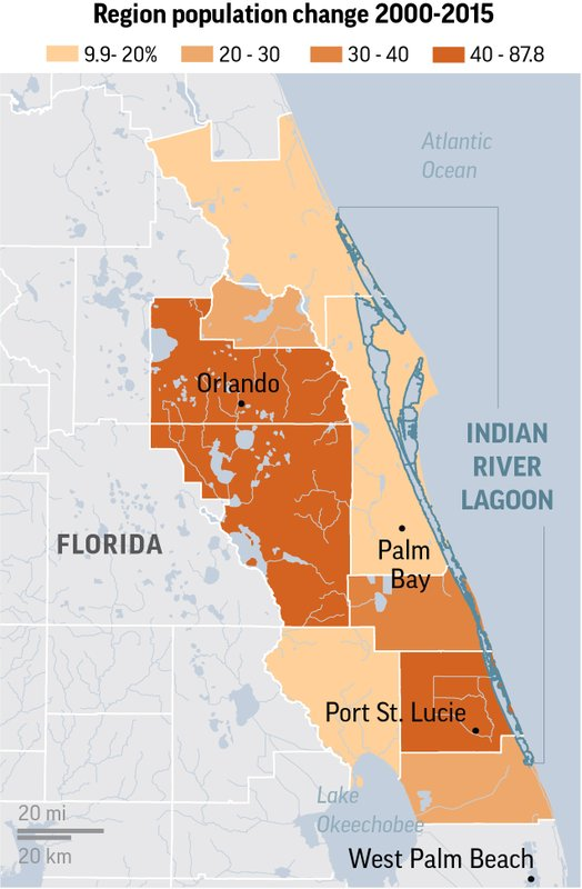 Floridas Building Boom Threatens Wildliferich Lagoon - Indian river lagoon map