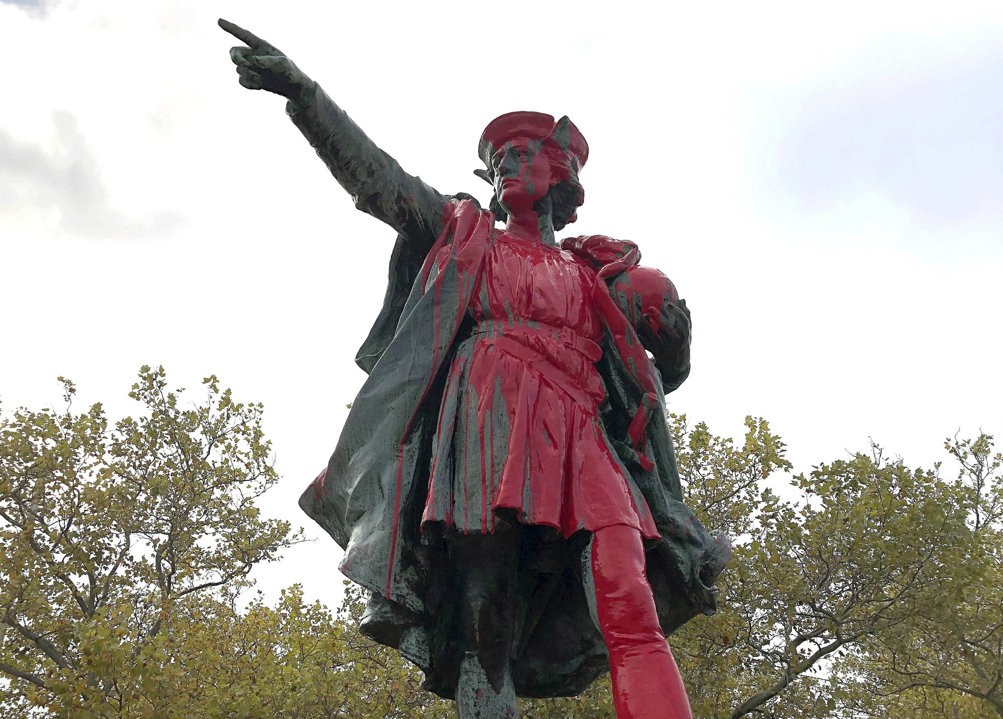 Columbus statues vandalized on US holiday named for him