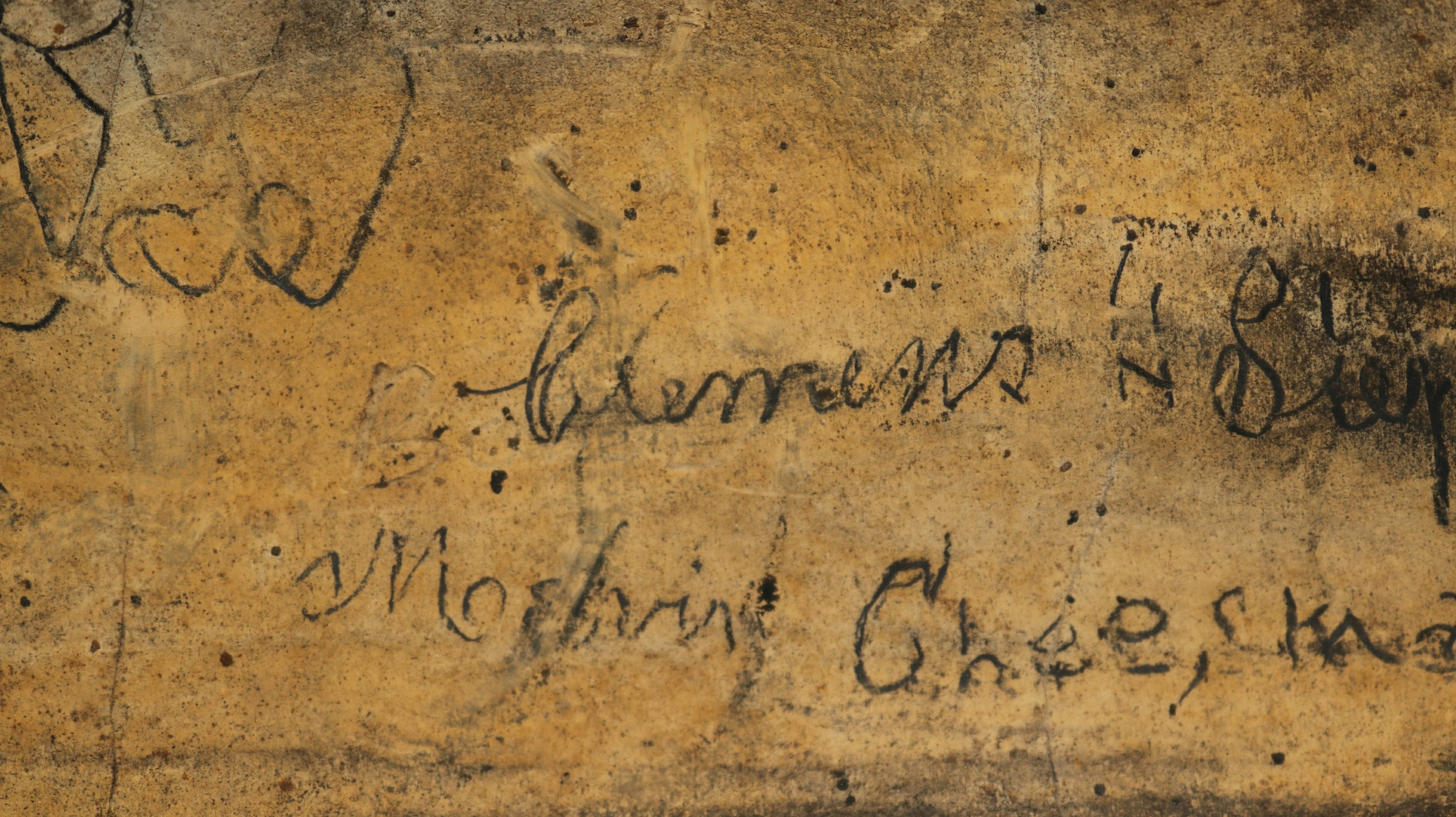 Sam Clemens' signature appears to be on Mark Twain Cave wall