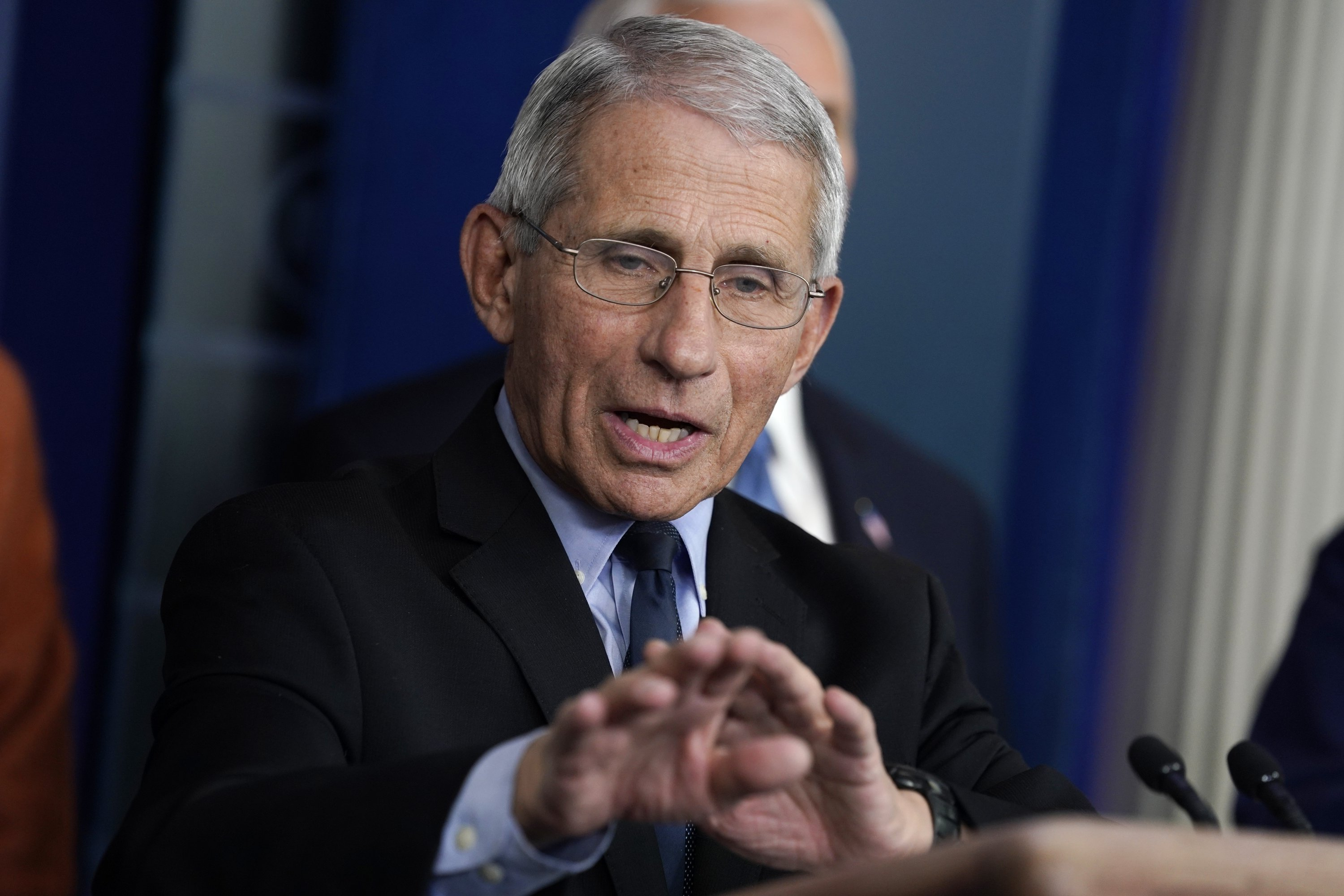 Fauci says he can't stop Trump from talking at briefings