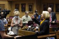 Arizona Senate President Karen Fann, R-Prescott, speaks during a news conference after the Arizona Senate Republican hearing on the review of findings in the 2020 election results in Maricopa County at the Arizona Capitol, Friday, Sept. 24, 2021, in Phoenix. The final report of the election review found that President Joe Biden did indeed win the 2020 presidential contest. (AP Photo/Ross D. Franklin)