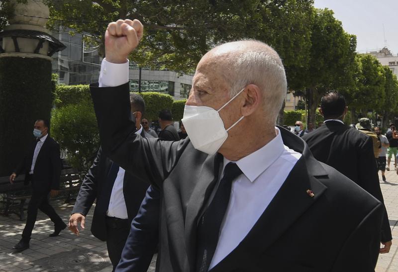 Tunisia, Tunis, Kais Saied, moderate Islamist Ennahdha party, Rachid Ghannouchi, Harbouchanews